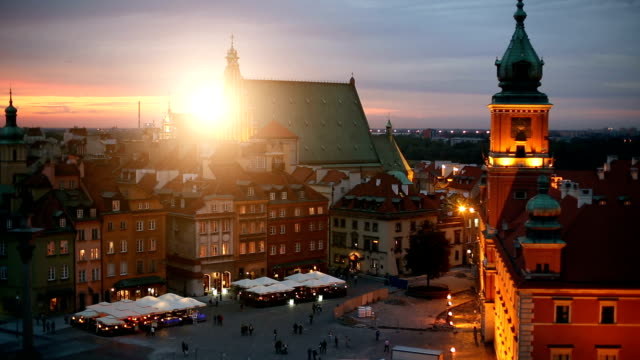 old town in warsaw - old town stock videos & royalty-free footage