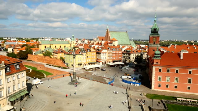 old town in warsaw - warsaw stock videos & royalty-free footage