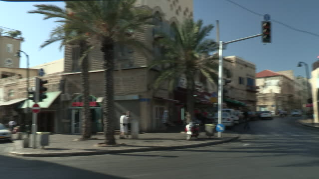 old town intersection, jaffa, israel - jaffa stock videos & royalty-free footage