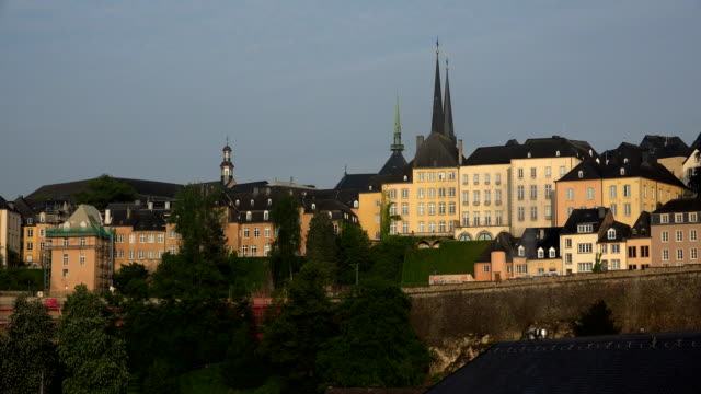 old town, luxembourg city, luxembourg - luxembourg benelux stock videos & royalty-free footage