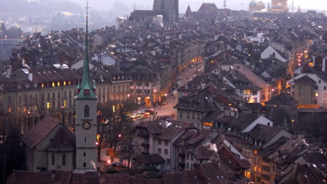 Old Town of Bern, capital of Switzerland from top view