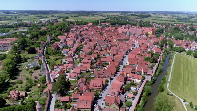 old town of dinkelsbühl on the romantic road - romantic road germany stock videos and b-roll footage