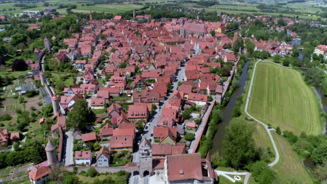 old town of dinkelsbühl on the romantic road - town stock videos & royalty-free footage