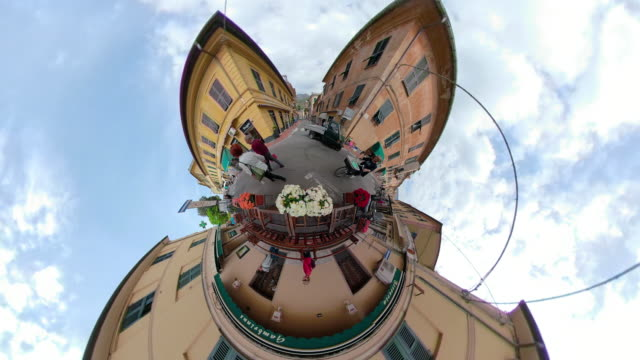 ZO / Old town of italian village Levanto with Little Planet Effect