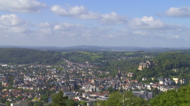 Old Town Of Marburg (Lahn) Time Lapse