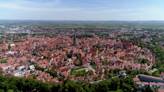 old town of nördlingen in bavaria - romantic road germany stock videos and b-roll footage