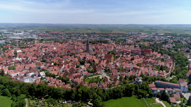 old town of nördlingen in bavarian swabia - romantic road germany stock videos and b-roll footage