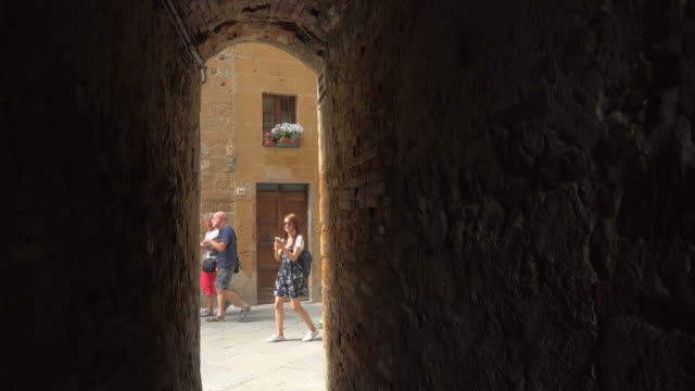 Old Town of Pienza, Province of Siena, Tuscany, Italy
