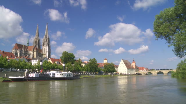 Old Town of Regensburg Time Lapse