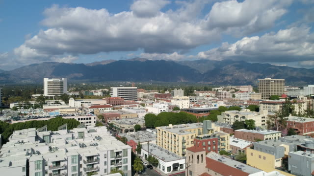 old town pasadena overview - pasadena california stock videos and b-roll footage