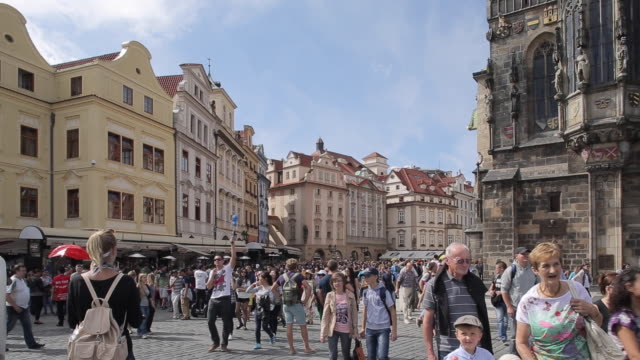 old town square, prague, czech republic, europe - stare mesto stock videos & royalty-free footage