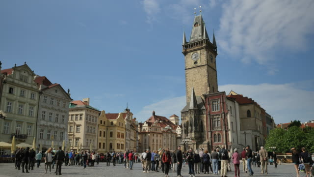 old town square, prague - prague old town square stock videos & royalty-free footage