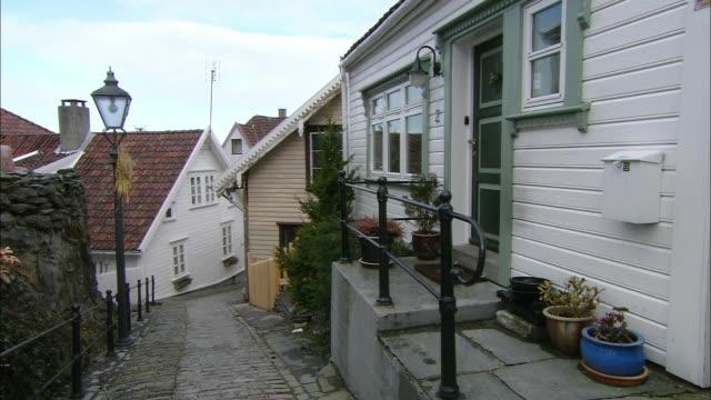 old town, stavanger, norway - stavanger stock videos & royalty-free footage