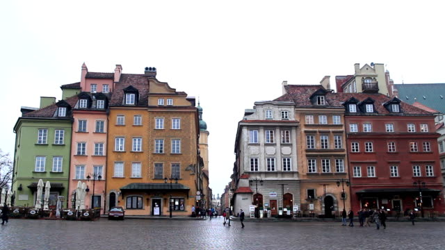 old town, warsaw poland - warsaw stock videos & royalty-free footage