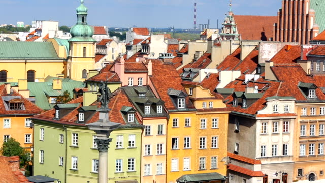 old town warsaw - warsaw stock videos and b-roll footage