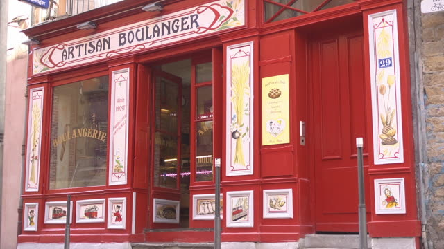 old traditional bakery in lyon - french bakery stock videos & royalty-free footage
