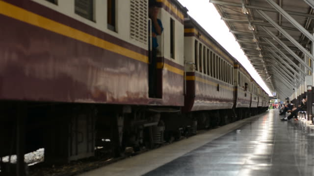 old train in motion - railway station stock videos & royalty-free footage