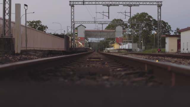 Old train tracks at Byron Bay, low angle at dusk