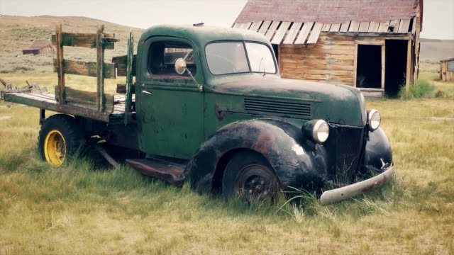 old truck in bodie - california gold rush stock videos and b-roll footage