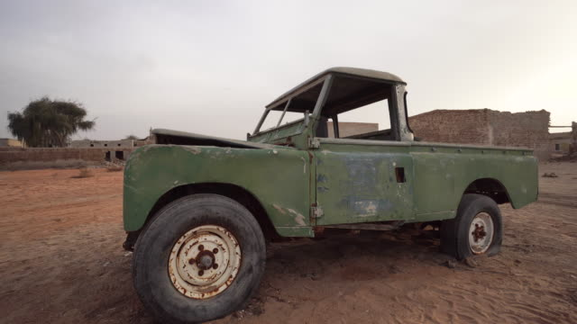 360, old truck in ras al-khaimah - bad condition stock videos and b-roll footage