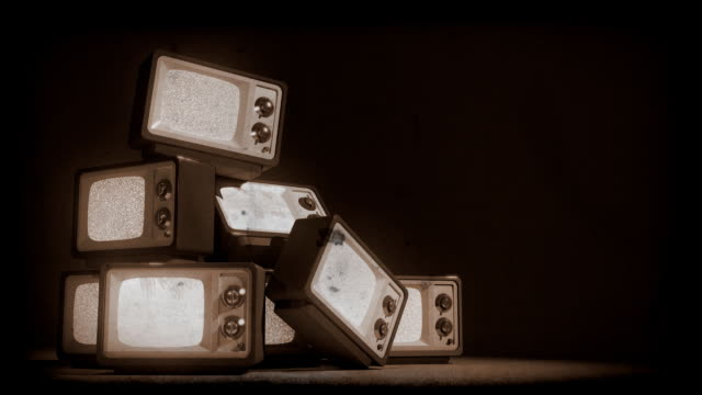 old tv mountain - sepia stock videos & royalty-free footage