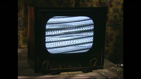 old tv set with static on the screen; 1996 - obsolete stock videos & royalty-free footage