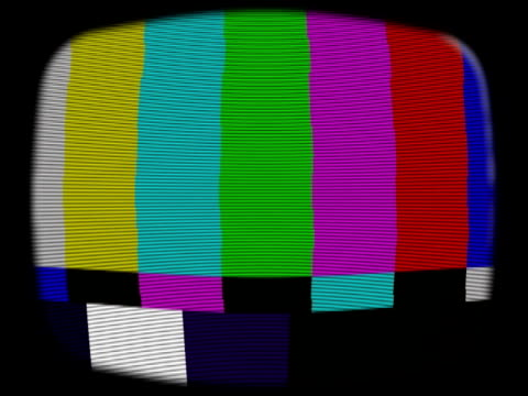 old tv test signal and noise. ntsc dv - cathode ray tube stock videos and b-roll footage