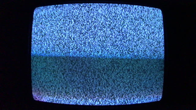 old tv tube screen with white noise scanline - loopable moving image stock videos & royalty-free footage