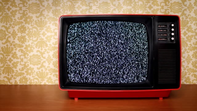 old tv with signal noise - television set stock videos & royalty-free footage