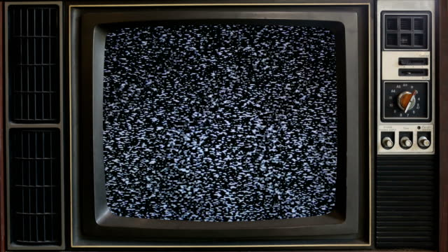 old tv without signal. - group of objects stock videos & royalty-free footage