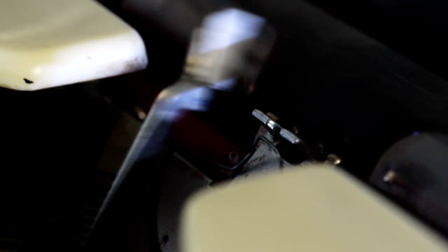 old typewriter slow motion - obsolete stock videos & royalty-free footage