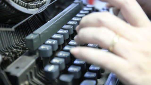 old typewriter typing - typewriter keyboard stock videos & royalty-free footage