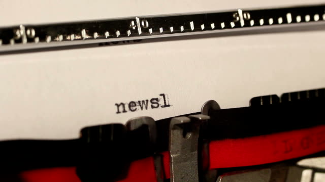 old typewriter write the word newsletter - newsletter stock videos & royalty-free footage