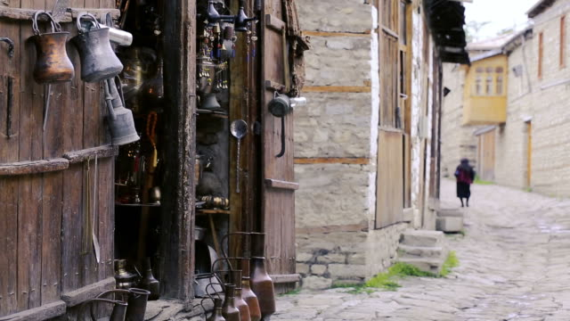 old vintage village road - azerbaigian video stock e b–roll
