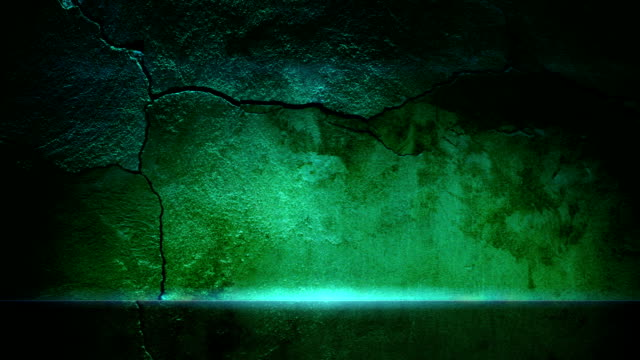 old wall and green glowing line - concrete wall stock videos & royalty-free footage