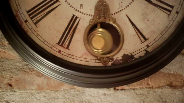 old wall clock - 20 24 years stock videos & royalty-free footage