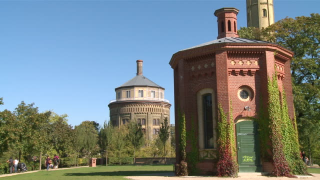 ms old water tower at prenzlauer berg / berlin, germany - komplett stock-videos und b-roll-filmmaterial