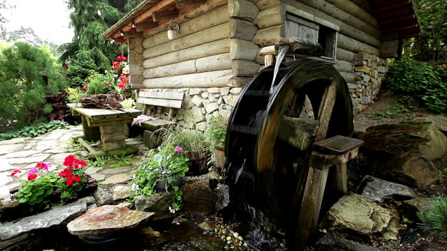 old watermill - power in nature stock videos & royalty-free footage