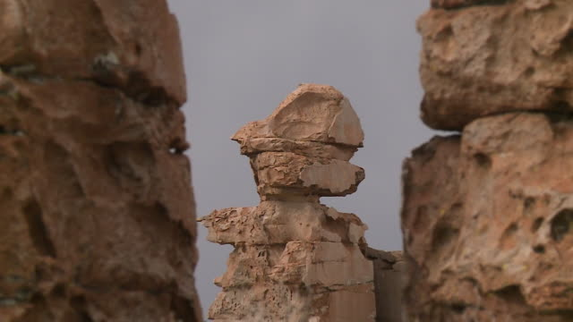 old weathered rocks arranged on top of each other - weathered stock videos & royalty-free footage