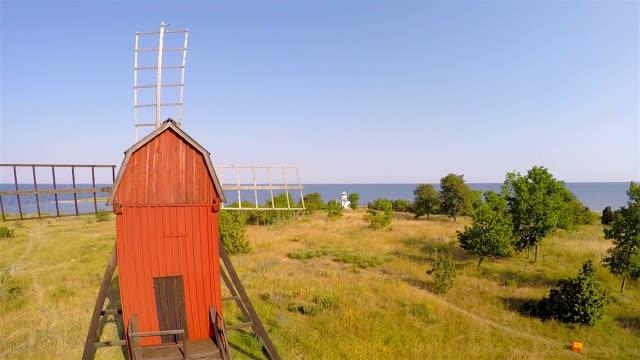 Alten Windmühle im wunderschönen Küste