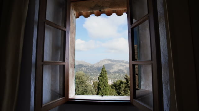old window. time lapse - window frame stock videos and b-roll footage