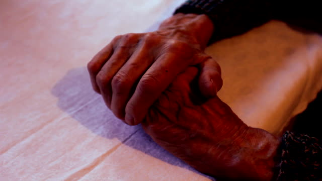 old woman hands (hd) - human vein stock videos & royalty-free footage