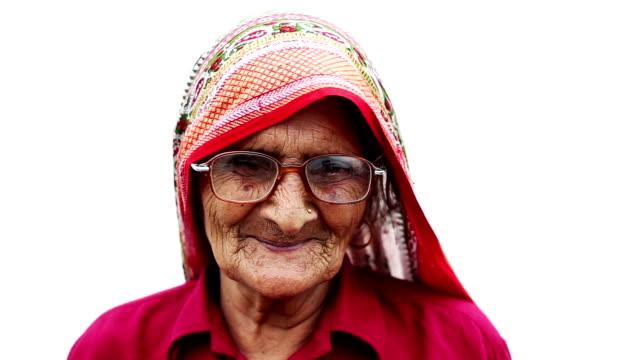 Old Woman Smiling Portrait