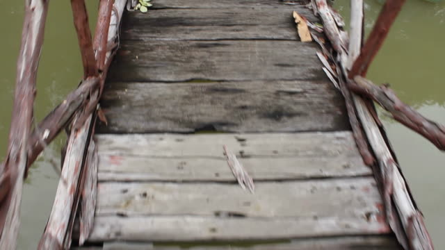 old wooden bridge - diary stock videos & royalty-free footage
