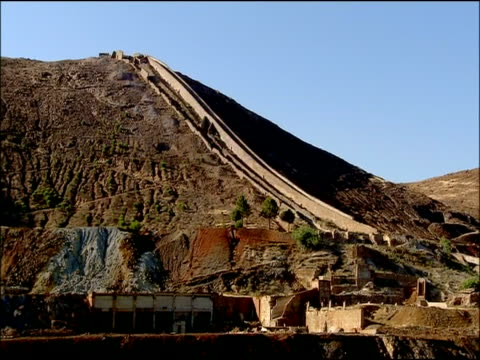 old workings of mine for iron & copper, rio tinto, huelva, andalusia, spain - copper mine stock videos and b-roll footage