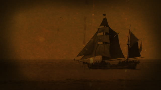 vídeos de stock e filmes b-roll de old world de navio - guerra