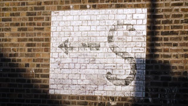 ws old ww2 air raid shelter sign in deptford, london - bomb shelter stock videos & royalty-free footage
