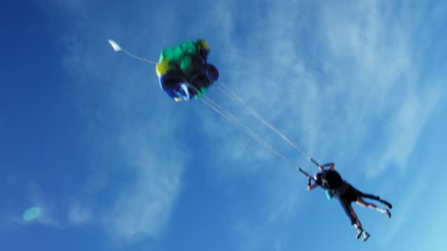 older gentleman goes tandem skydiving - one senior man only stock videos & royalty-free footage