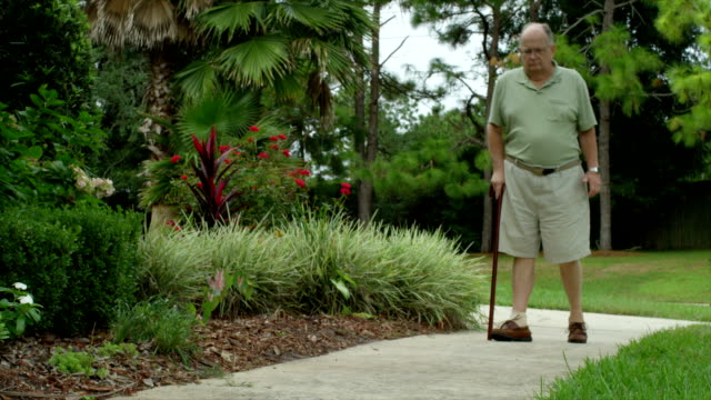 older man with cane - medicaid stock videos and b-roll footage
