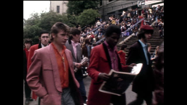 older teddy boys arrive for a concert at wembley stadium; 1972 - 1972 stock videos & royalty-free footage